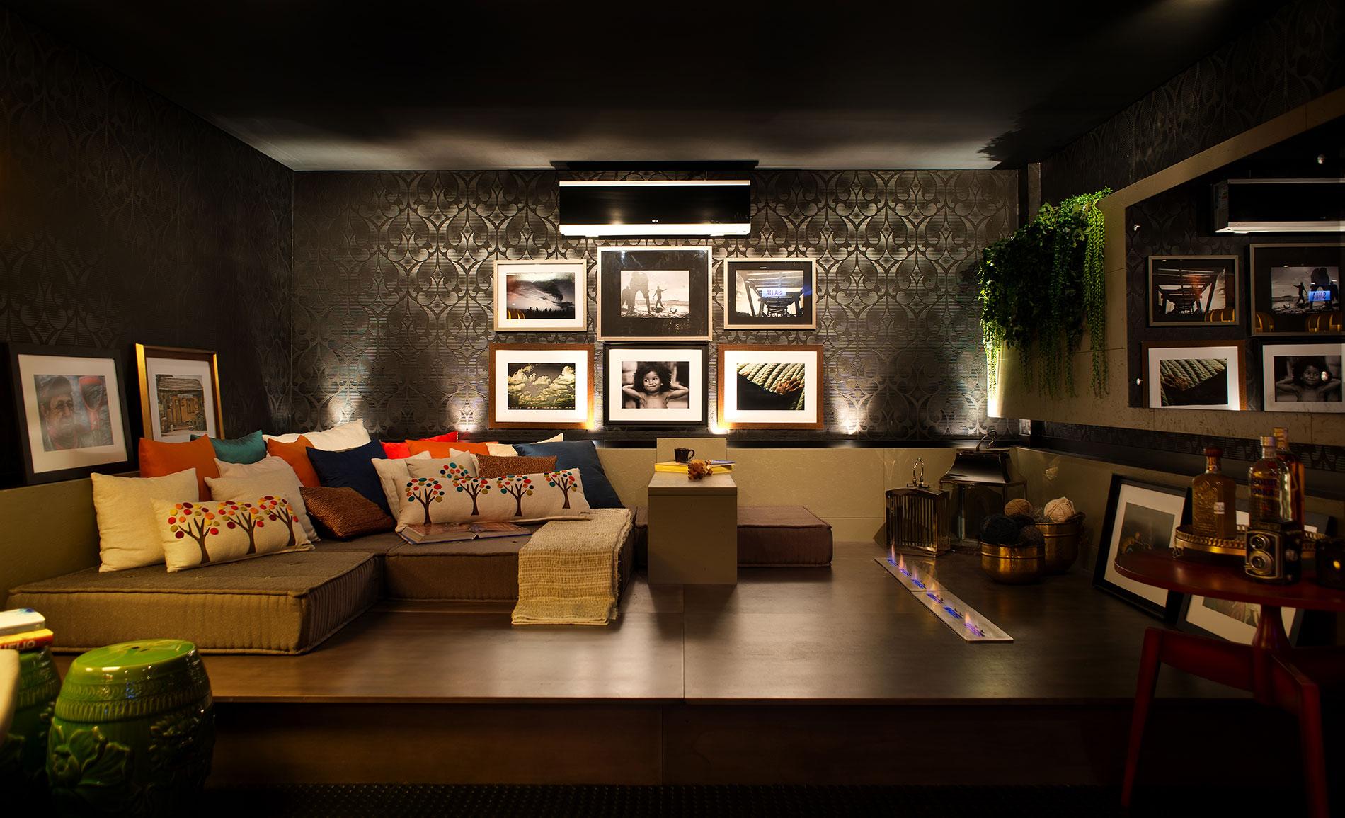 1 – Lareira Etanol  - Casa Cor 2013 - MEDEIROS VIEIRA CARVALHO  Arquitetura e Interiores