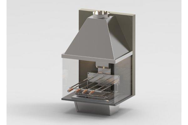Kit Completo Braseiro + Versa Grill + Coifa + Vidros - 21